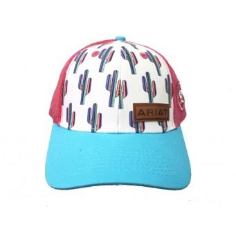 Ariat Girls Multi Colored Cactus Snap Back Cap