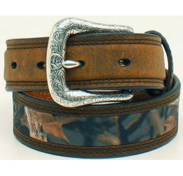 Ariat Kids Belt Camo Center Design Brown Billets Boys Western Belt