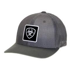 Ariat Grey Mesh Flexfit Cowboy Hat