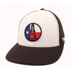 Ariat Black and White Oil Derrick Snap Back Cowboy Cap