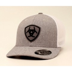 Ariat Gray and White Mesh Back Cowboy Cap
