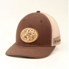 Ariat Brown and Tan Mesh Back Cowboy Cap