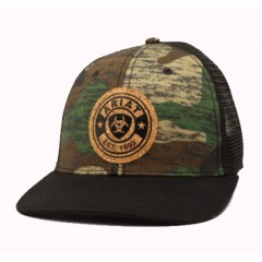 Ariat Camo and Black Snap Back Cowboy Cap