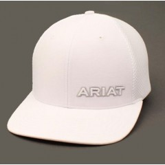 Ariat White Snap Back Cowboy Cap