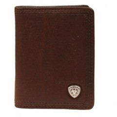 Ariat Brown Bi-Fold Leather Wallet