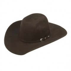 Ariat Cool Hand Luke Chocolate  Kids Felt Cowboy Hat