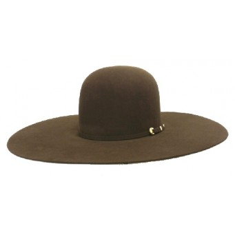 "Atwood Hat Company 20X Open Crown 5"" Brim Brown Felt Hat"
