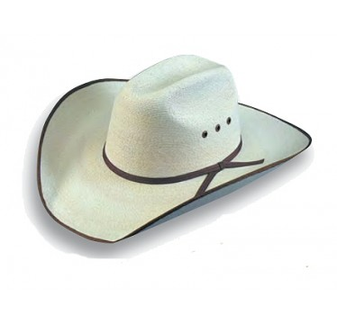 """Atwood Hat Company Hereford 5X Low Crown 4"""" Brim Chocolate B/E Palm Leaf Hat"""
