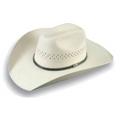 "Atwood Hat Company Hereford 7X Low Crown Perforated 4"" Brim Palm Leaf Hat"