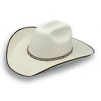 "Atwood Hat Company Hereford 15X Low Crown 4"" Brim Chocolate B/E Palm Leaf Hat"