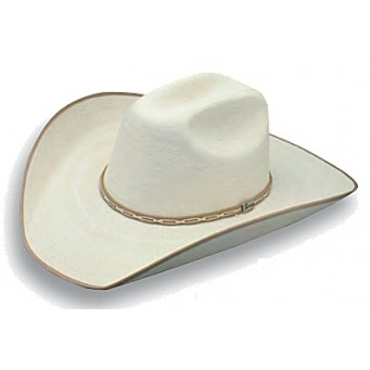 "Atwood Hat Company Hereford 15X Low Crown 4"" Brim Tan B/E Palm Leaf Hat"