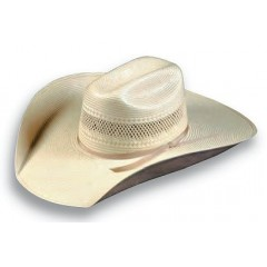 "Atwood Hat Company Cheyenne Modified Low Cattleman Crown 4.5"" Brim Shantung Straw Cowboy Hat"