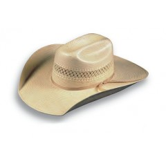 "Atwood Hat Company Las Vegas Modified Low Crown 4 1/4"" Brim Shantung Straw Cowboy Hat"