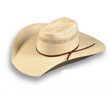 "Atwood Hat Company Paxton Ramsey Poli Rope 4 3/4"" Brim Straw Cowboy Hat"