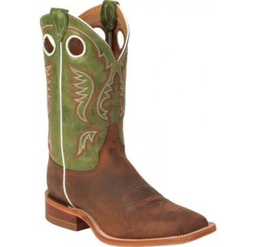 Bent Rail By Justin Cowboy Boots Cognac Ponteggia Mens Cowboy Boots