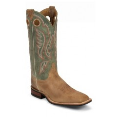 Bent Rail by Justin Cowboy Boots Tan Arizona Mens Cowboy Boots