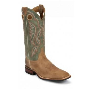 Bent Rail by Justin Cowboy Boots Tan Arizona Mens Cowboy Boots