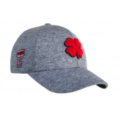 Black Clover Texas Tech Heather Grey Flex Fit Cap