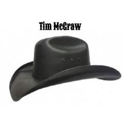 """Tim McGraw Hat Biz Newton 4 1/4"""" Brim Straw Cowboy Hat"""