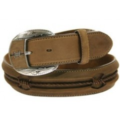Leegin By Brighton Fenced In Aged Bark Mens Western Belt