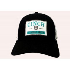 Cinch Black, White, and Turquoise Snap Back Cowboy Cap