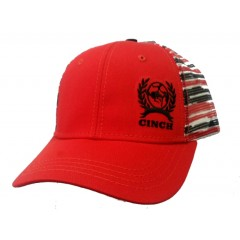 Cinch Red and Black Snap Back Cowboy Cap
