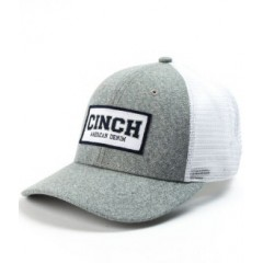 Cinch Grey and White Snap Back Cowboy Cap