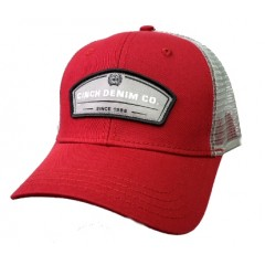 Cinch Burgundy And Grey Snapback Cowboy Cap