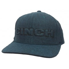 Cinch Black and Teal Snap Back Cowboy Cap