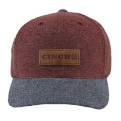 Cinch Burgundy and Denim Snap Back Cowboy Cap