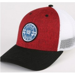 Cinch Red and White Trucker Cowboy Cap