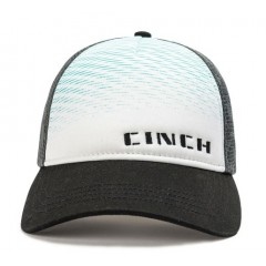 Cinch Black, White, Grey and Turquoise Trucker Snap Back Cowboy Cap