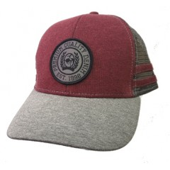 Cinch Youth Burgundy And Grey Snap Back Cowboy Cap