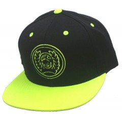 Cinch Black and Neon Green Snap Back Cowboy Cap