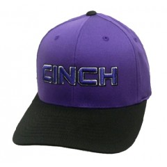 Cinch Black and Purple Flexfit Cowboy Cap