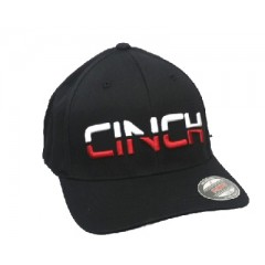 Cinch Cap Black Red White CInch Logo Cowboy Cap