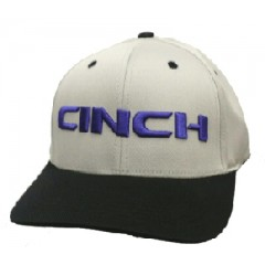 Cinch Grey Black Flexfit Cowboy Cap