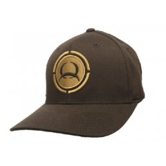 Cinch Brown and Tan Flexfit Cowboy Cap