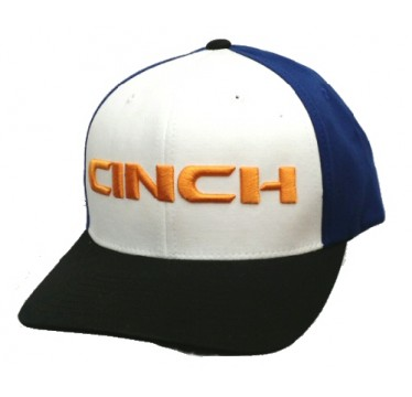 Cinch Blue White & Black Flexfit Cowboy Cap