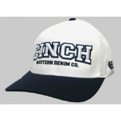 Cinch White and Navy Flexfit Cowboy Cap