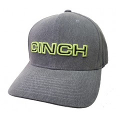 Cinch Grey and Neon Green Flexfit Cowboy Cap