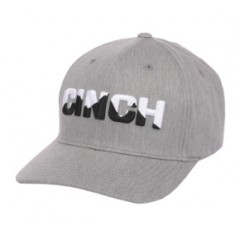 Cinch Light Grey Flexfit Cowboy Cap