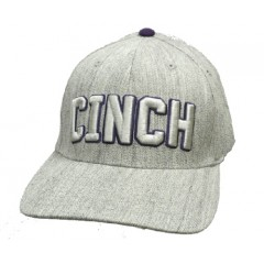 Cinch Gray and Purple Flex Fit Cowboy Cap