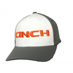 Cinch Gray, White, and Orange Flex fit Cowboy Cap