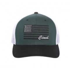 Cinch Dark Green FlexFit Trucker Cowboy Cap
