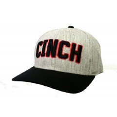 Cinch Gray, Black, and Red Flex Fit Cowboy Cap