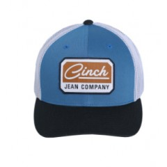 Cinch Blue and White Mesh Trucker Cowboy Cap
