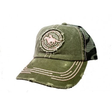 Cruel Girl Green Camo Snap Back Cap