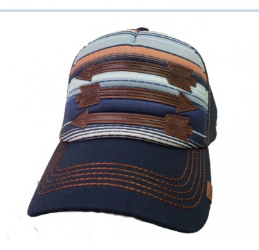 Cruel Girl Ladies Blanket Stripe Trucker Cowboy Cap