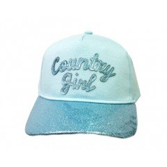 Cruel Girl Light Blue Sparkle Country Girl Youth Cap